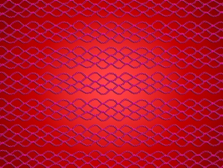 picot: Red background with simple crochet web Stock Photo
