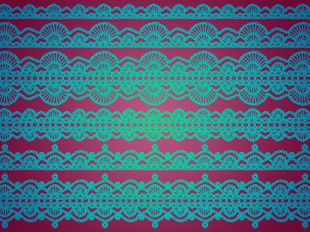 sofisticated: Purpleish pink background with luminous turquoise patterns with elegance