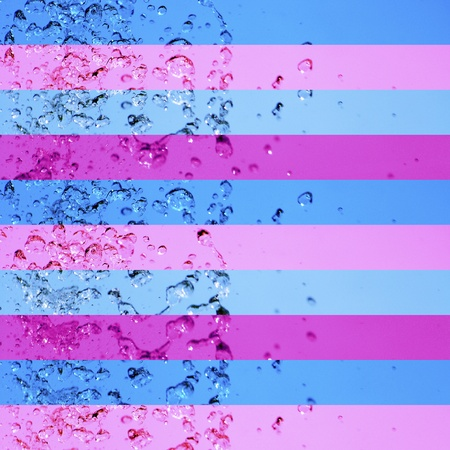solarize: Blue, pink, purple, stripe, striped, stripes, background, water Stock Photo