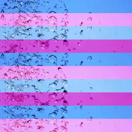 Blue, pink, purple, stripe, striped, stripes, background, water Stock Photo