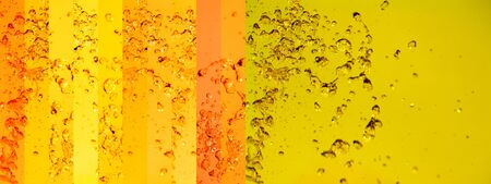 instrospection: Yellow, orange, water, splash, background, striped, stripes Stock Photo