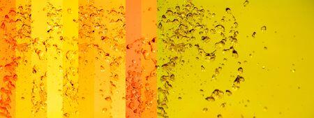 Yellow, orange, water, splash, background, striped, stripes Stock Photo