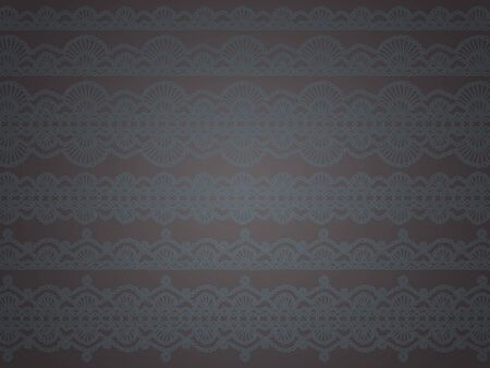 sofisticated: Elegant sober grey background with crochet patterns Stock Photo