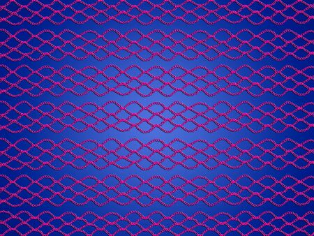 Pink crochet web over blue backdrop photo