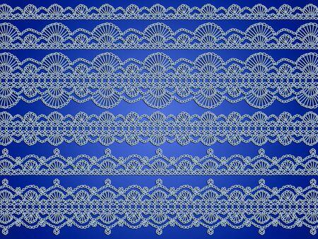 digitals: Soft elegant blue crochet background Stock Photo