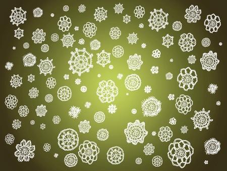 sobrio: Sober suave de fondo creativo de Navidad con croochet