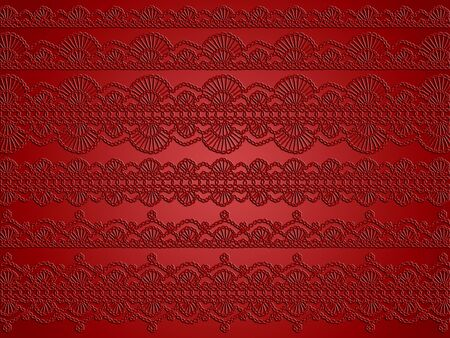 warmth: Old crochet patterns as an elegant warmth Christmas background