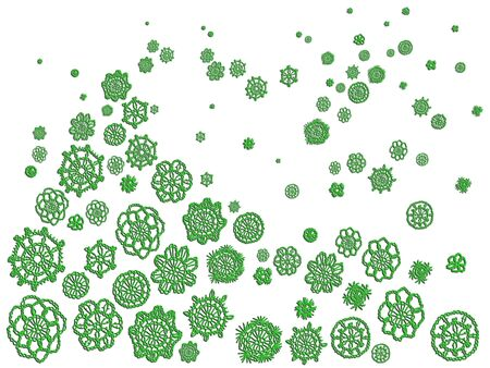 Green christmas crochet pattern over white backdrop Stock Photo - 12808155
