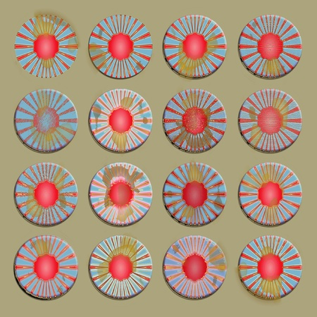 Circular set of backgrounds as badges photo