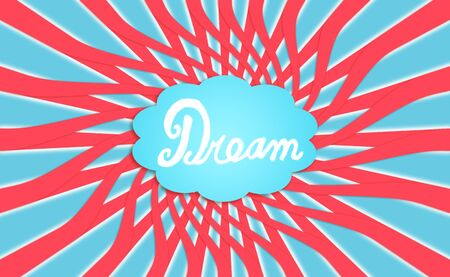 Cloud of a dream, energizing dreams, background, concept photo