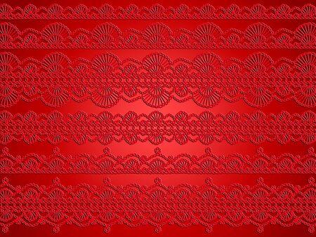picot: Uncinetto sfondo rosso con delicatezza ed eleganza crochet