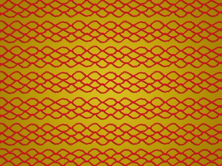 Red web over golden yellow background