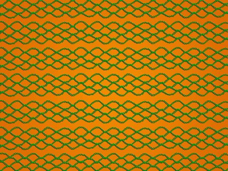 sofisticated: Green simple crochet pattern over yellowish orange background