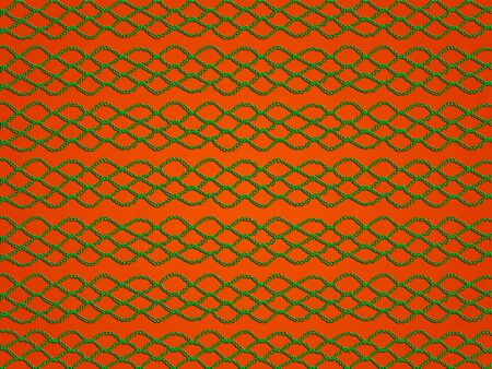 Green crochet laces over orange bacground photo