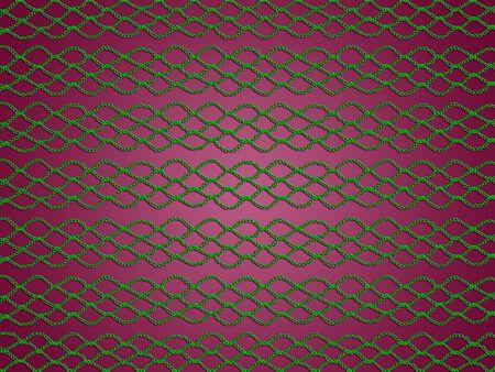 picot: Crochet web verde su sfondo scuro sobrio rosa Archivio Fotografico