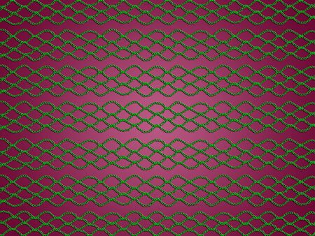 sofisticated: Green crochet web over dark sober pink background