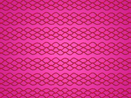 sofisticated: Red crochet links over pink background