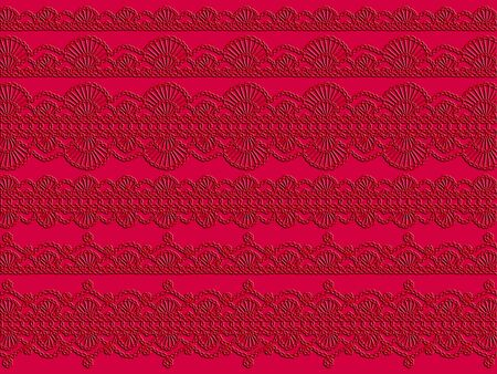 Red crochetted textures on monochrome vintage background photo