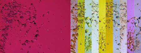 colortherapy: Dark sober magenta background with yellow and purple lines with drops