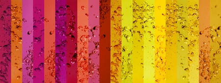 Drops, water, liquids, colorful, warm, red, yellow, drop, drops  photo