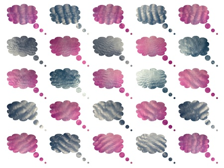 Blue and pink textured cottoned clouds backgrounds Stock Photo - 12807886