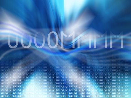 Om, mantra, blue, abstract, sound, binary code, codes, backgrounds photo