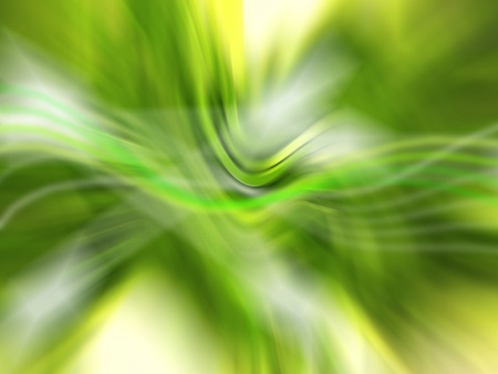rhythms: Green softness of an abstract backdrop with lights and blurs
