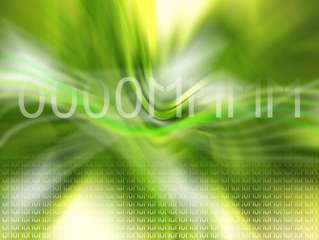 Soft green background with binary code like om mantra photo
