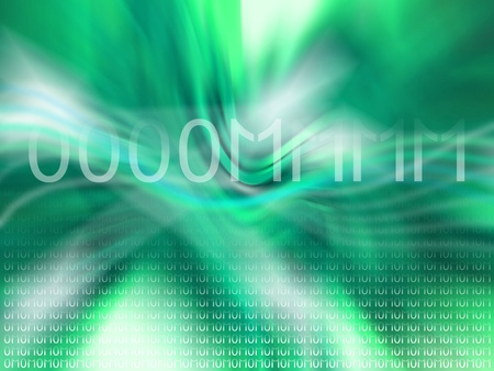 crystaline: Fresh green background with om of numbers Stock Photo