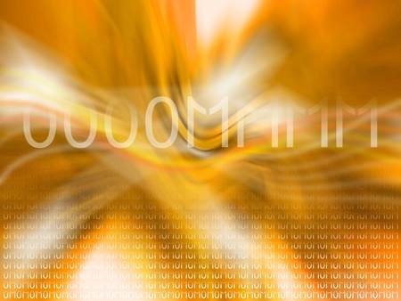 Yellowish orange abstract background with mantra om reverberating photo