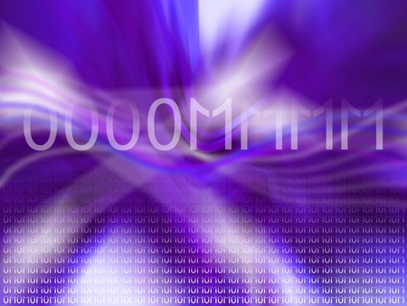 Om, zero, one, vibes, energy, blue, violet, background Stock Photo - 12807837