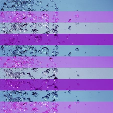 Violet, lilac, blue, backdrop, water, drops, splash