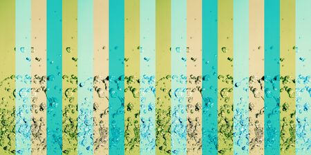 colortherapy: Vintage colored long horizontal pattern with vertical lines with drops of water