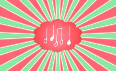 simetric: Composing Christmas music, backdrop with notes Stock Photo