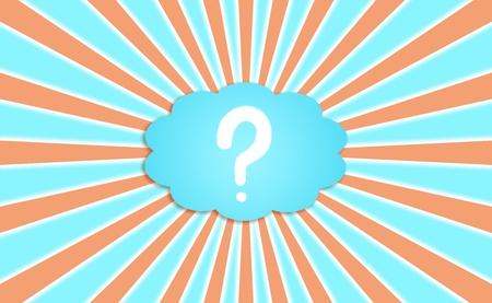 Mark, la question, le symbole, de penser, la pensée, fond