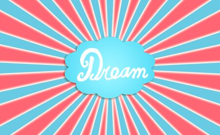 Red blue and white background with an american dream photo