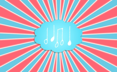 Music, compose, note, notes, dream, cloud, background