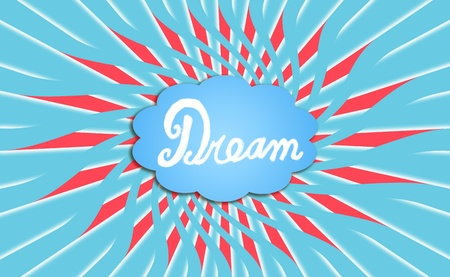 Dream, imagination, concept, bubble, thoughts, background photo