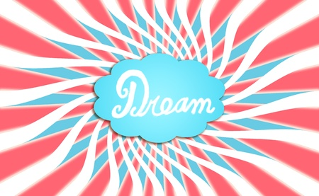 Energetic cloud of a dream in a tricholor background photo
