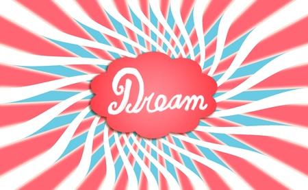 spiralized: Conceptual background, cloud, dream Stock Photo