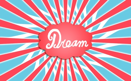 spiralized: Vote, voting, dream, dreams, dreaming, cloud, concept Stock Photo