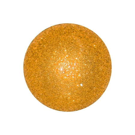 Golden yellow xmas ball isolated over white background Stock Photo - 12998302
