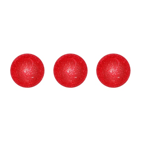 Three, balls, points, dots, suspensive, concept, xmas, red photo