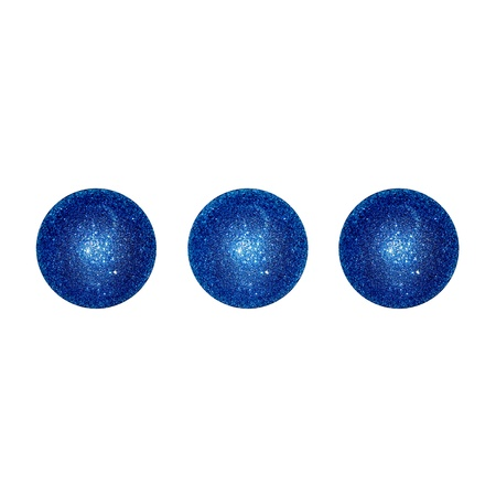 Dark blue balls, three isolated dots photo