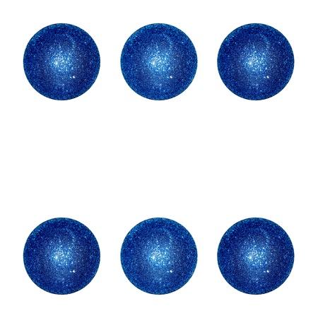 competences: Six, winner, dice, blue, balls, balloons Stock Photo