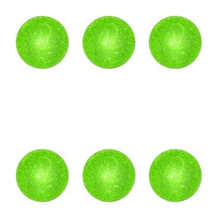 Six, win, points, game, light green, xmas balls photo