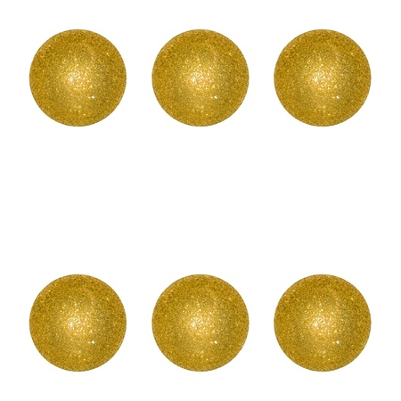 Six, winning, dice, balls, xmas, isolated on white Stock Photo - 12998437