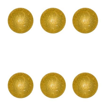 Six, winning, dice, balls, xmas, isolated on white Stock Photo - 12998437