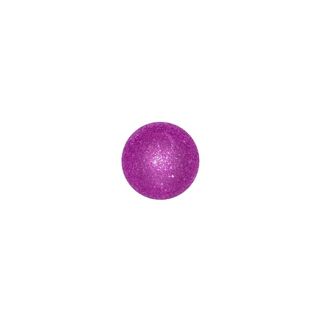 One violet brilliantine Christmas ball over white like a dice Stock Photo