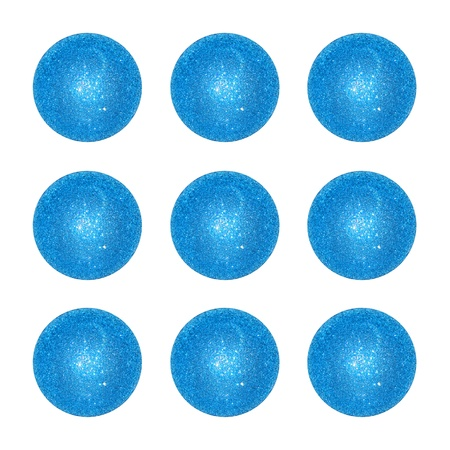 competences: Nine, ornamental, blue, gaming, balls, circles, isolated